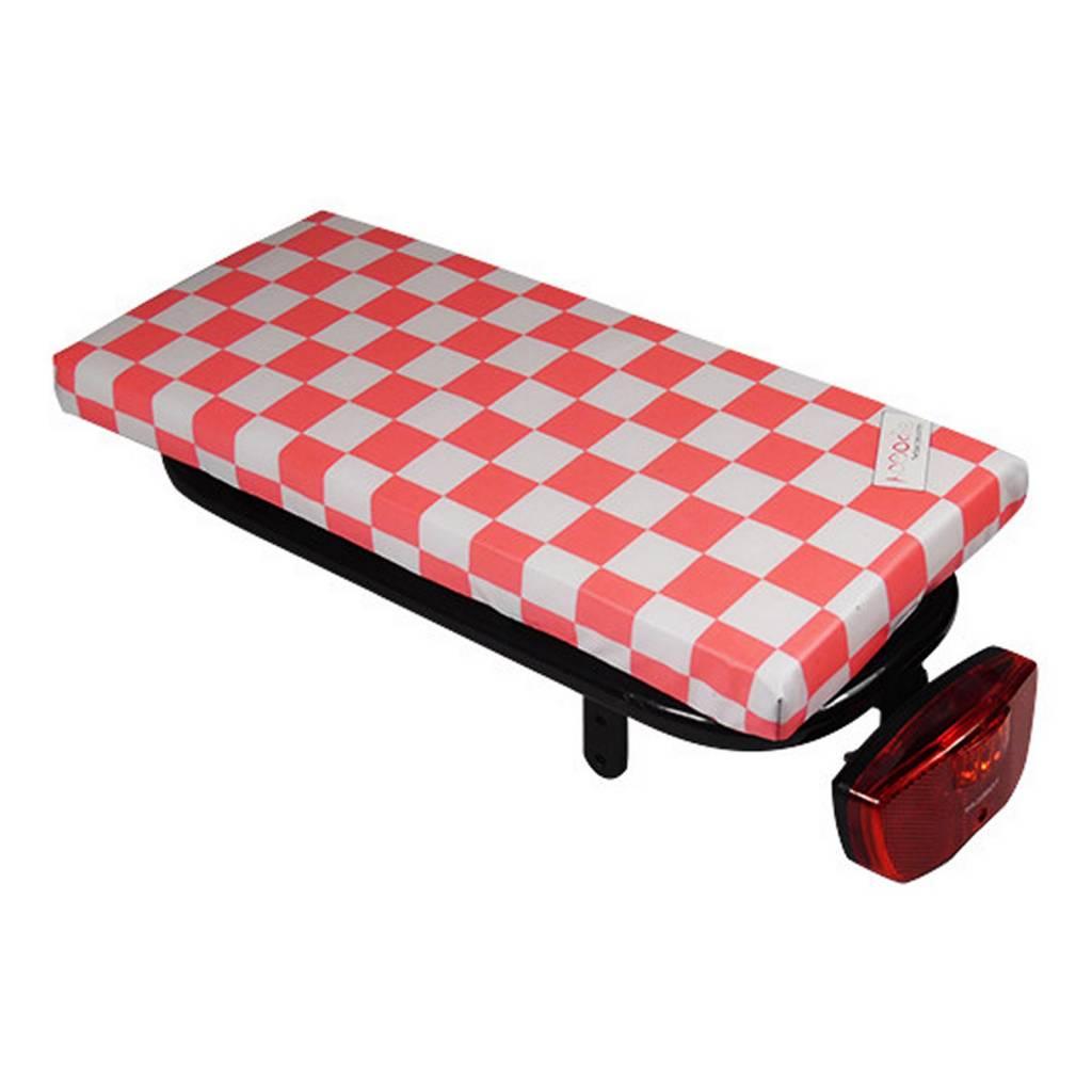 Bagagedragerkussen Cushie Pink Checker