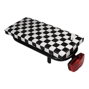 Hooodie Bagagedragerkussen Cushie Black Checker