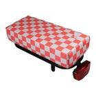 Hooodie Fietskussen BIG Pink Checker