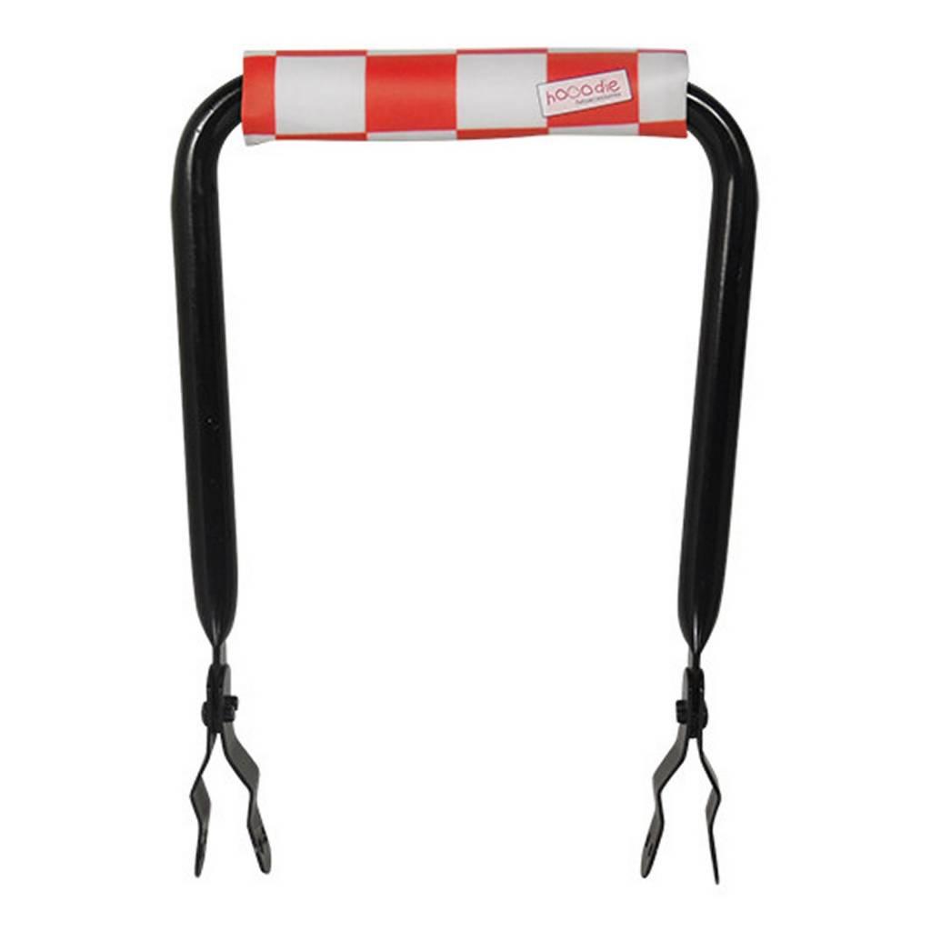 Rugsteuntje Rugleuning zwart met Red Checkers rugkussentje