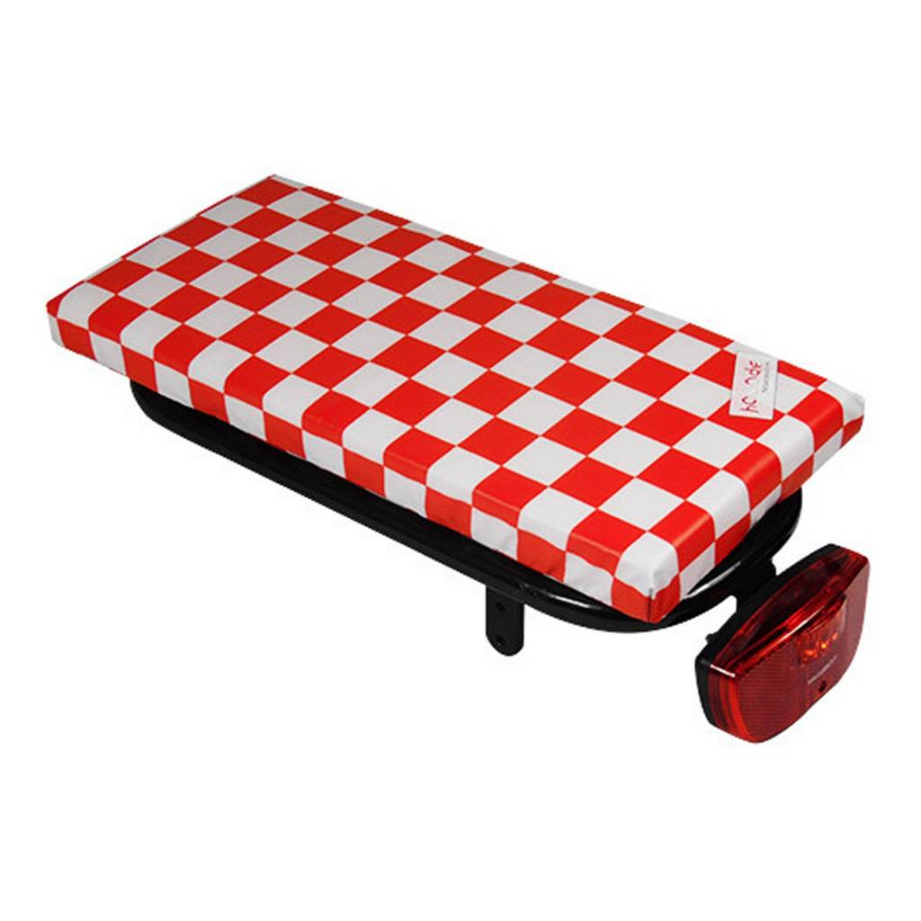 Hooodie Bagagedragerkussen Cushie Red Checker