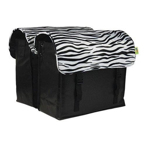 Beck Dubbele Fietstas CUSTOM Compleet Zebra