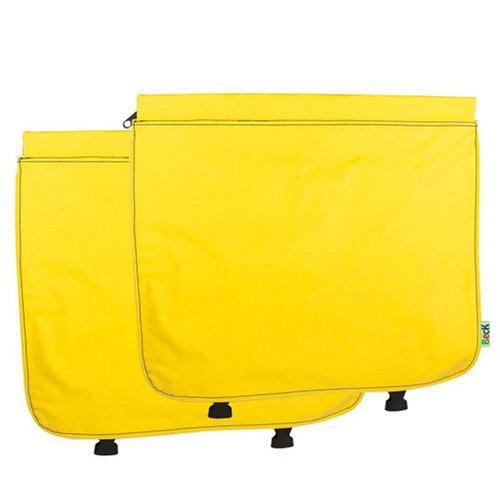 Beck Dubbele Fietstas CUSTOM Compleet PVC Yellow
