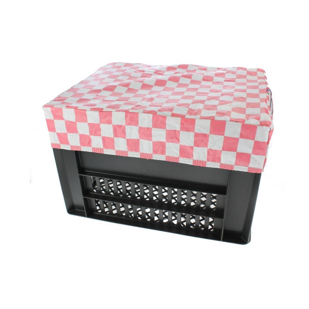 Fietskrat Hoes Kratcover Medium Pink Checkers