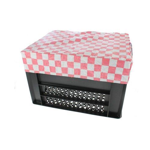 Hooodie Fietskrat Hoes Kratcover Large Pink Checkers