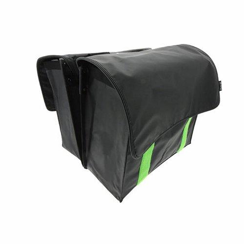 Beck Dubbele Fietstas Velcro Lime