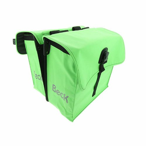 Beck Dubbele Fietstas Small Lime