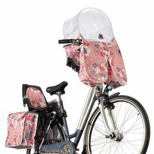 Basil ARC Regentunnel / Regenhoes Roze met Bloemen