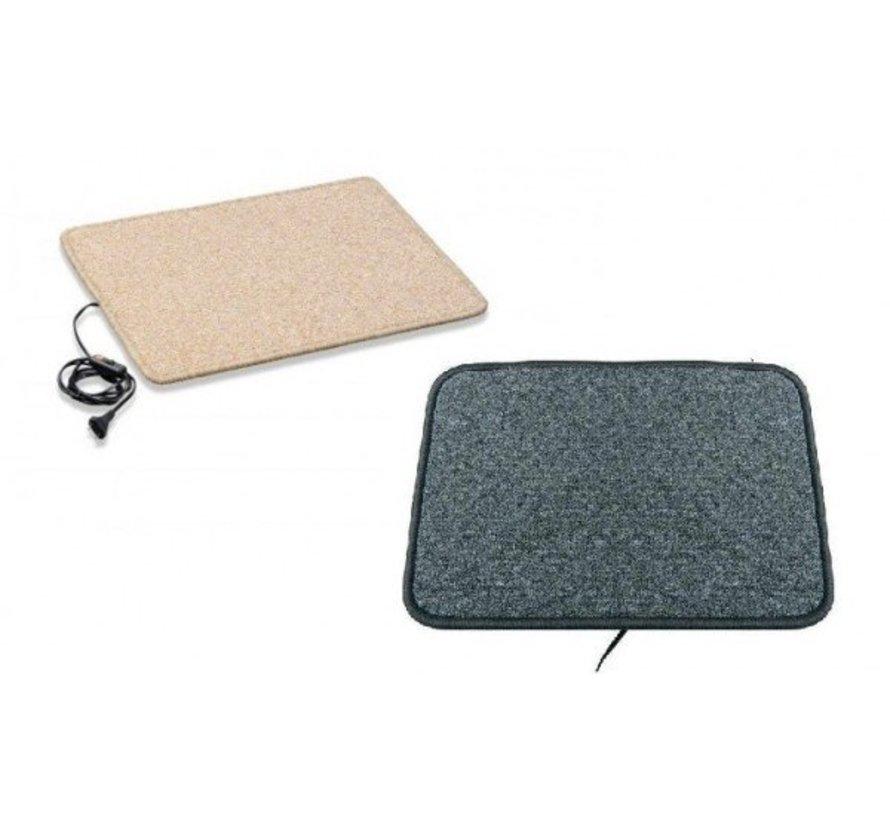 Infrarood warme voeten mat 40x60cm crème of antraciet 55Watt
