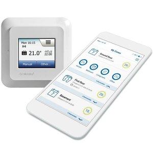 100 Watt elektrische vloerverwarming mat set inclusief WCD5 Wifi oj microline thermostaat