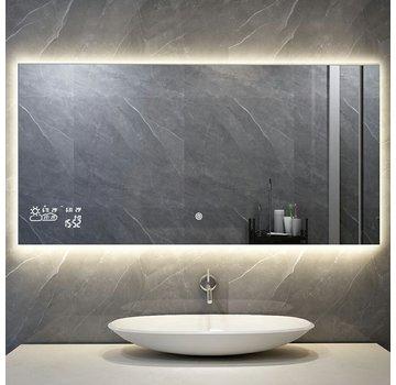 Spiegel met Wifi, tijd en infrarood verwarming 60 x 100 cm 350 Watt