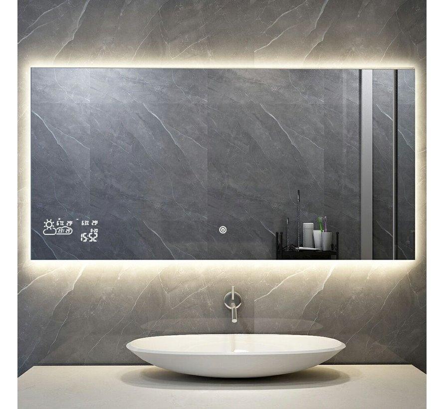 Spiegel met Wifi, tijd en infraroodverwarming 60 x 120 cm 500 Watt