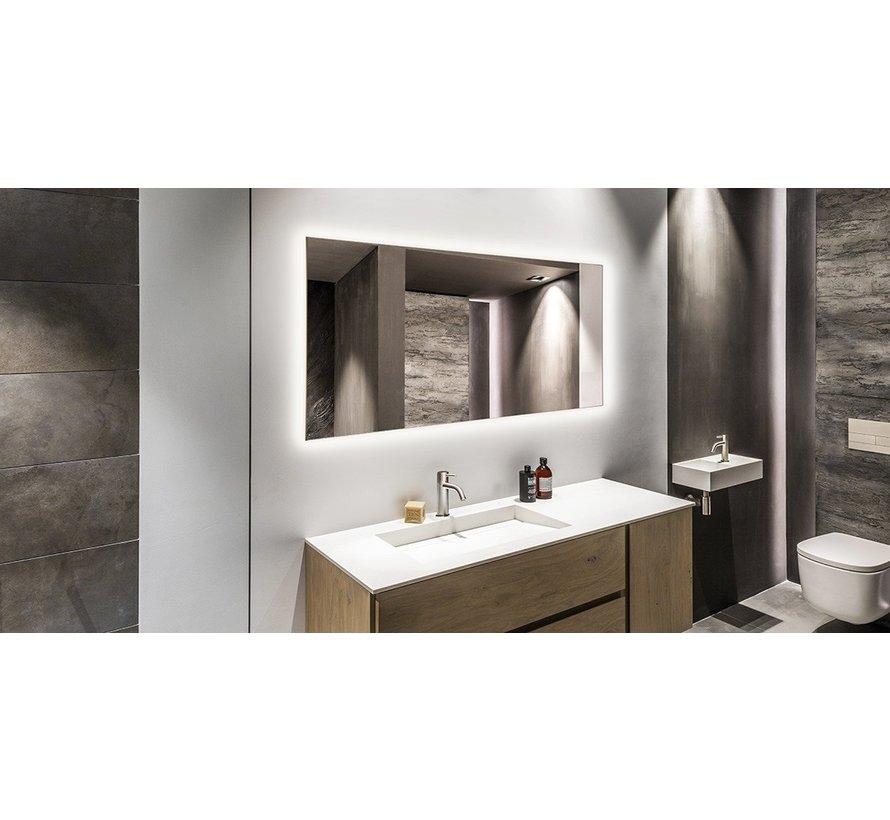 Spiegel infrarood verwarming met led verlichting 60 x 120 cm 700Watt