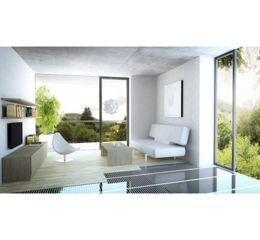 100Watt m² folie set Wifi Warmup 6IE wit of zwart