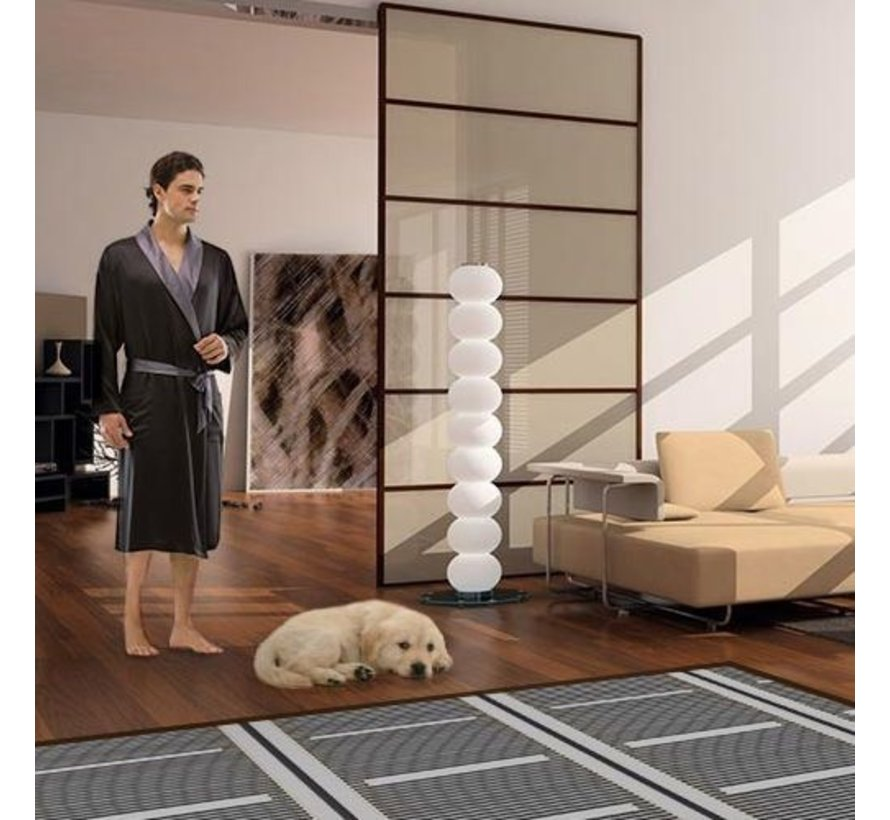80Watt m² folie set programmeerbaar wit of zwart