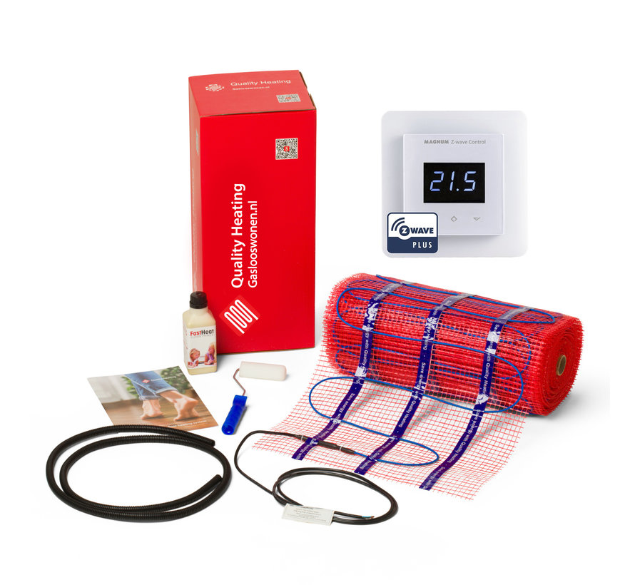 100 Watt mat set inclusief Magnum Z-Wave domotica geavanceerde Wifi thermostaat