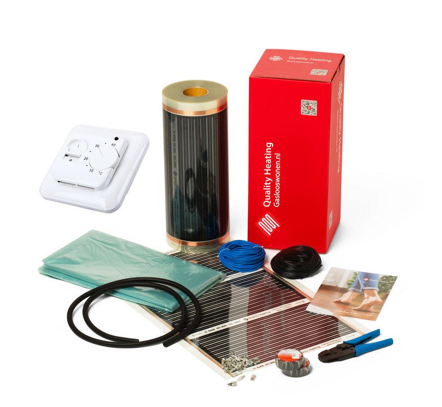 140Watt m² folie set eenvoudige manual QH-671