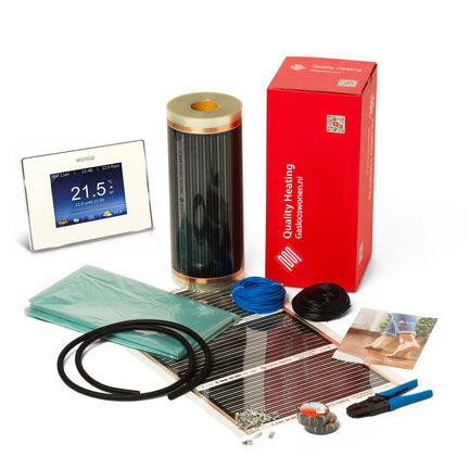 Vloerverwarming systeem  met vinyl, tapijt en pvc