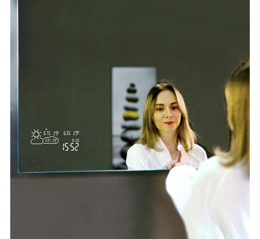 Spiegel met Wifi, tijd en infraroodverwarming 60 x 100 cm 350 Watt