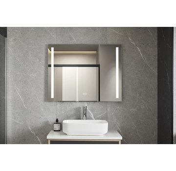 Bella Mirror Spiegel 60 x 100 cm frameloos, inbouw led verlichting en anti-condens