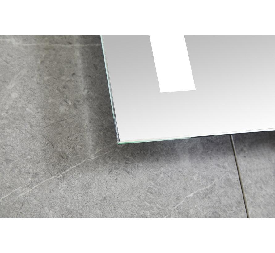 Spiegel 60 x 100 cm frameloos, inbouw led verlichting en anti condens