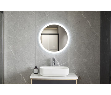 Bella Mirror Spiegel rond 60 cm frameloos, inbouw led verlichting en anti-condens