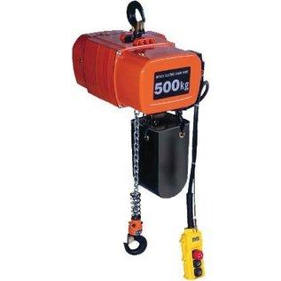 Hitachi Elektrische kettingtakels 220 volt 250 kg.