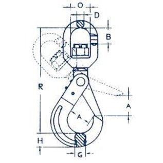 Cartec wartel veiligheids gaffelhaak grade 100