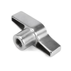 Riggatec Vleugelmoer zilver M12 draad