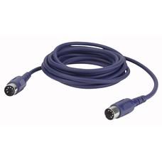 DAP FL50 5-pins DIN MIDI kabel 6m 3-pins aangesloten