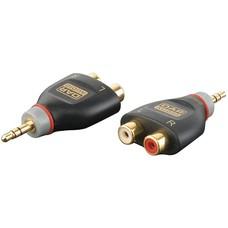 DAP Xcaliber XGA17 Mini Jack stereo male naar 2 x RCA female