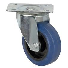 DAP Zwenkwiel 100mm zonder rem blauw