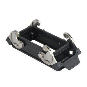 DAP 16p/72p inbouw chassisdeel zwart
