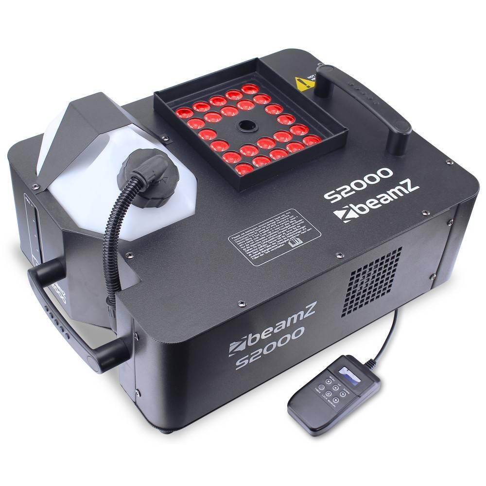 Beamz S2000 Verticale DMX rookmachine met LEDs 1800W