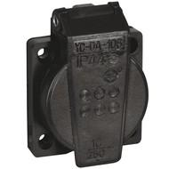 Showtec PVC schuko inbouw 230V/240V female zwart