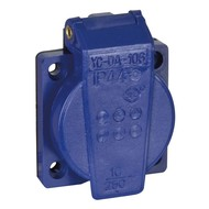 Showtec PVC schuko inbouw 230V/240V female blauw