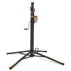 VMB TE-034 wind-up lichtstatief tot 3,8m en 100kg zwart