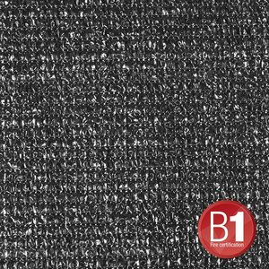 Adam Hall Gaasdoek 100 zwart 4 x 6m