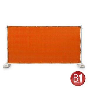 Adam Hall Hekwerk windscherm gaasdoek 341 x 176cm oranje