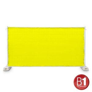 Adam Hall Hekwerk windscherm gaasdoek 341 x 176cm geel