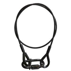 Adam Hall Safety 3mm 60cm met schroefkarabijnhaak zwart
