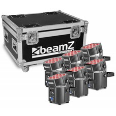 Beamz BBP60 Uplighter set in flightcase