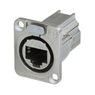 Neutrik NE8FDX-P6 Ethernet CAT6E doorvoer chassisdeel zilver