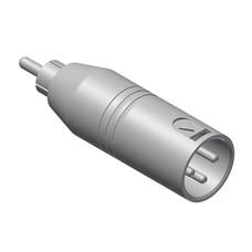 Procab VC135 XLR male naar RCA male adapter