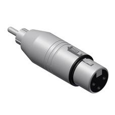 Procab VC130 XLR female naar RCA male adapter