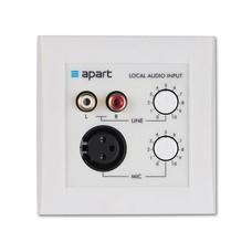 Apart ALINP lokaal inputpaneel met microfoon- en lijningang