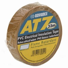 Advance AT7 PVC tape 19mm 33m bruin
