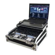 ProDJuser Flightcase voor 19 inch mixer met laptop plateau