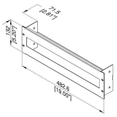 Penn Elcom R1299/3UK Frontpaneel met DIN rail