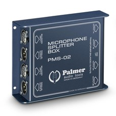 Palmer Pro PMS 02 2-kanaals microfoonsplitter